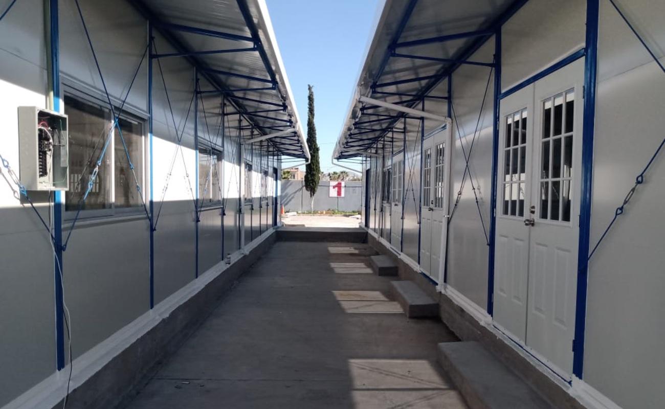 Instalan hospital temporal para pacientes Covid en Tijuana