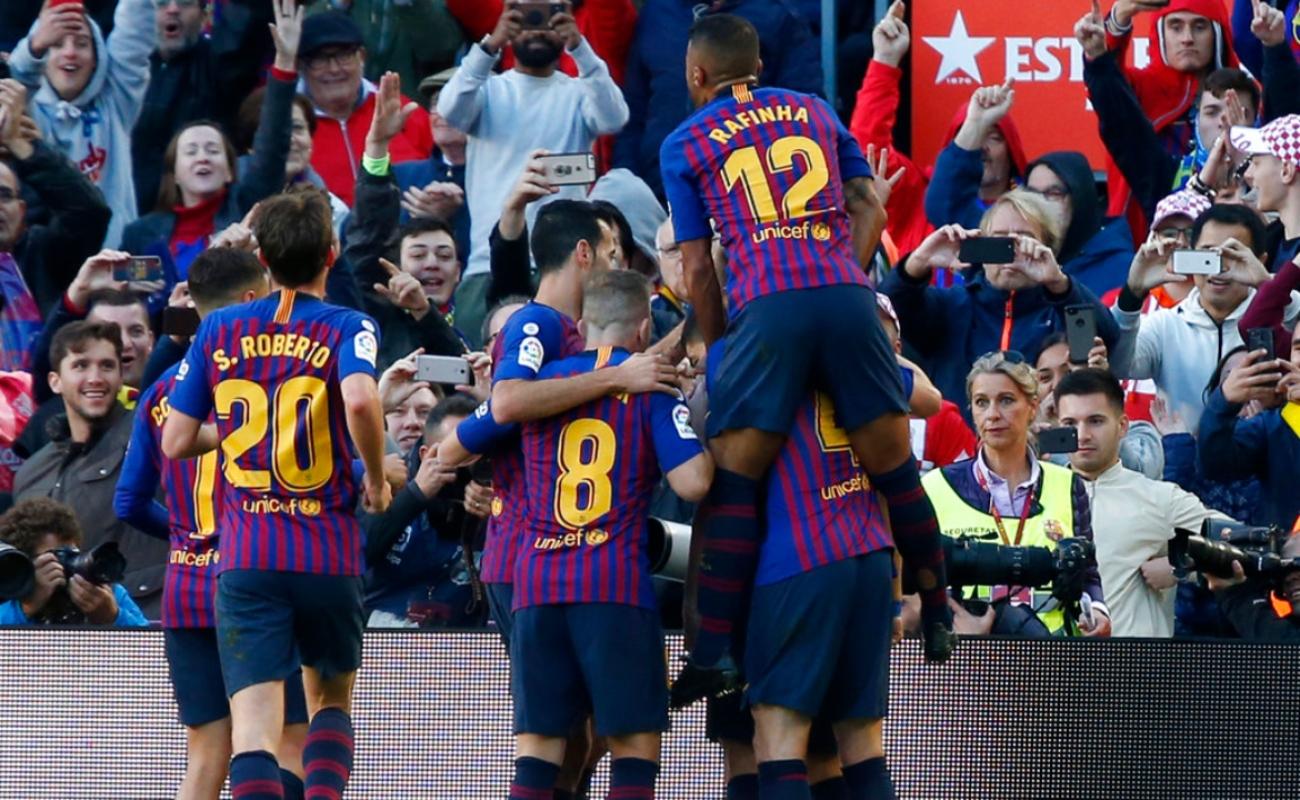 Barcelona humilla al Real Madrid 5 por 1, y lo hunde en la clasificación