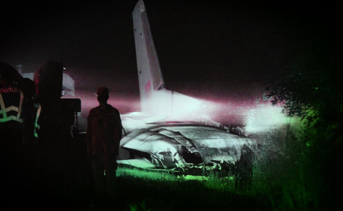 Accidente de avión militar en Ucrania deja 22 muertos