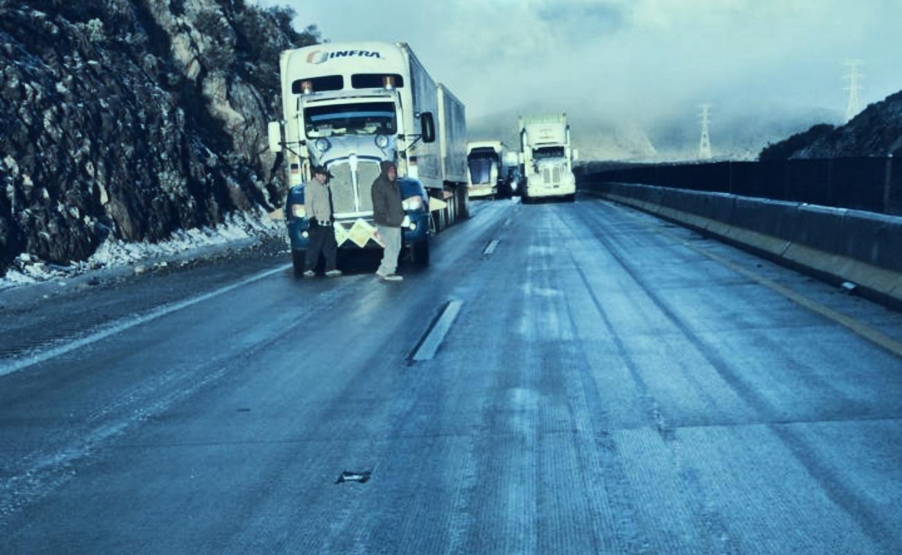 Se cristalizó carretera La Rumorosa-Tecate; ya reabrió