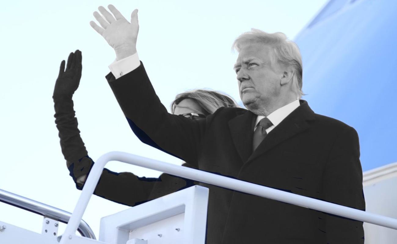 Trump se despide, amaga con regresar